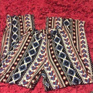 Women's stretchy wide leg pants